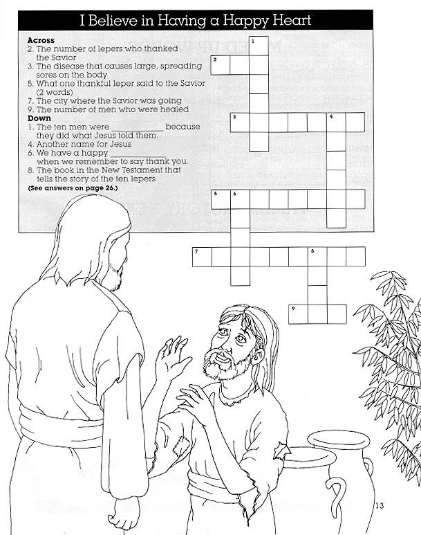 jesus heals a leper coloring page - homemaking honeys family home evening thanking others