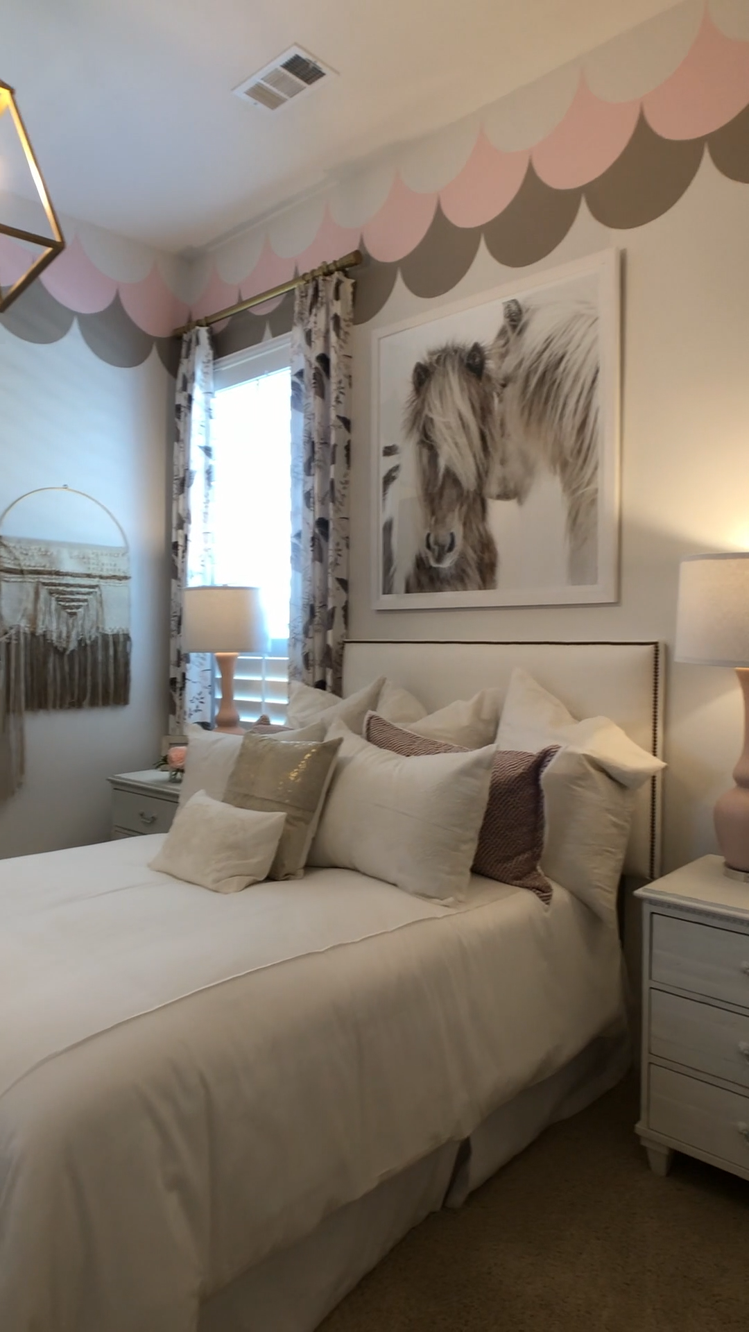 Boho Horse themed Girls Bedroom