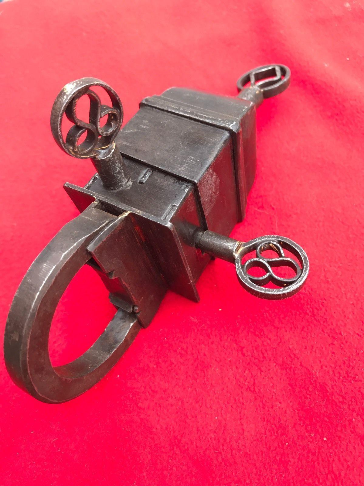 Trickschloss mit 3 Schlüsseln | Padlocks | Cadenas | Vorhängeschloss ...