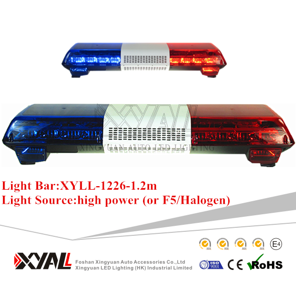 Best Selling Automotive Full Size 1 2m Emergency Warning Signal Light Bar With High Quality For Police Car Ambulance Fire Truck