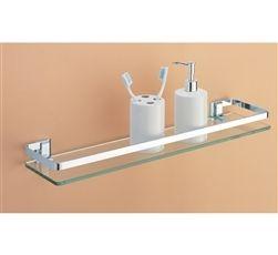 Gl Shelf With Rail Bathroom Storage Organize It All