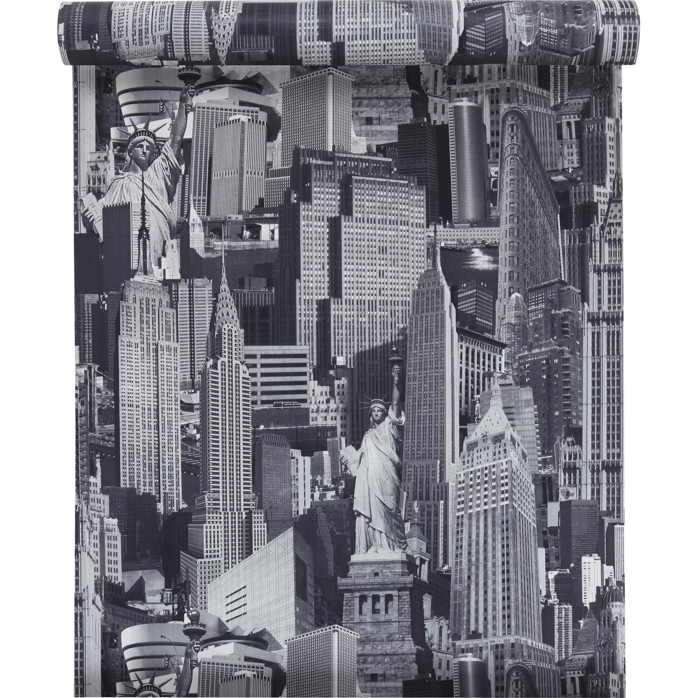 Papier Peint Sur Papier Inspire New York Gris Larg 0 53 M