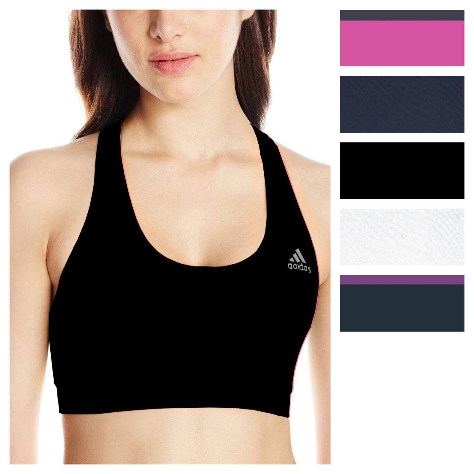 4cbba9da5e85b adidas Women s TechFit Climalite Sports Bra Athletic Training Running  Bralette