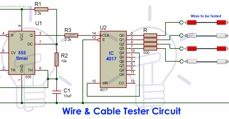 Cable And Wire Tester Circuit Diagram