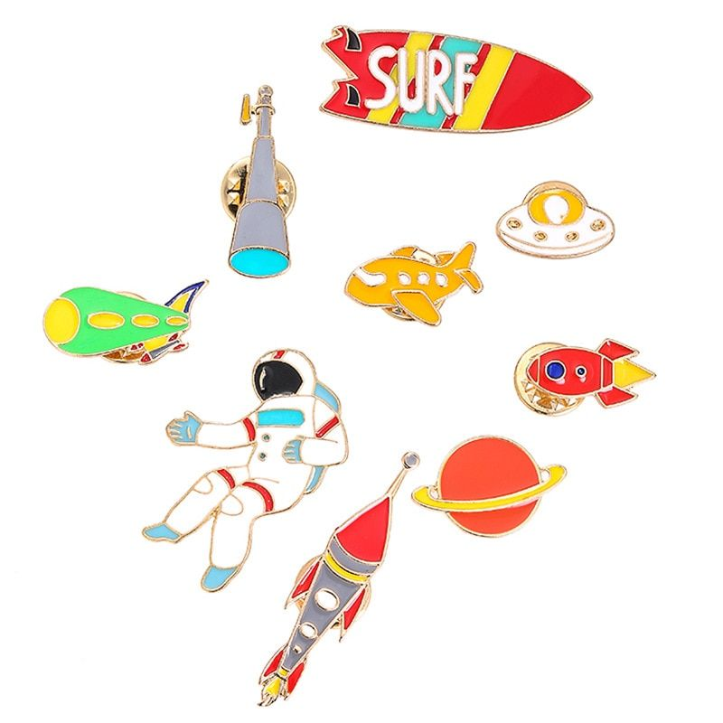 Cheap Brooches, Buy Directly from China Suppliers:Space Travel Spaceman  Rocket Enamel Pin Cartoon Astronaut Planet Bro… | Custom badges, Enamel pins,  Kids backpacks