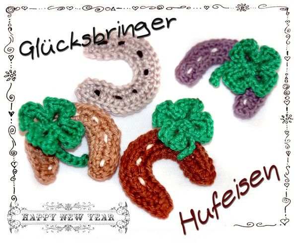 Glücksbringer Hufeisen Mit Kleeblatt Christmas