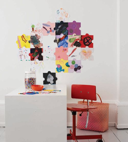 Clever Kids Room Wall Decor Ideas Inspiration: Kids Art Puzzles As Wall Deco