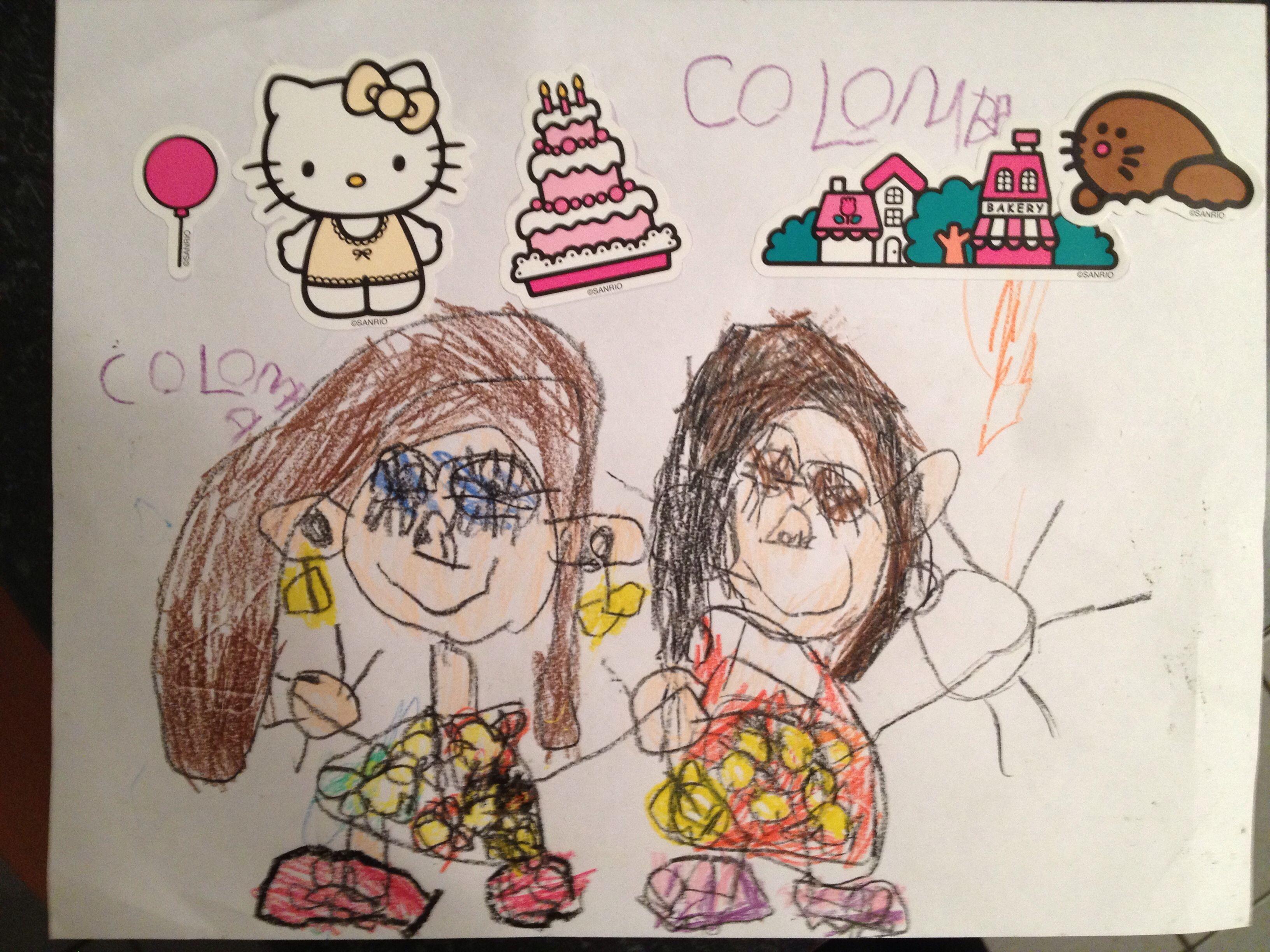 Colomba y su amiga Josefa 2014