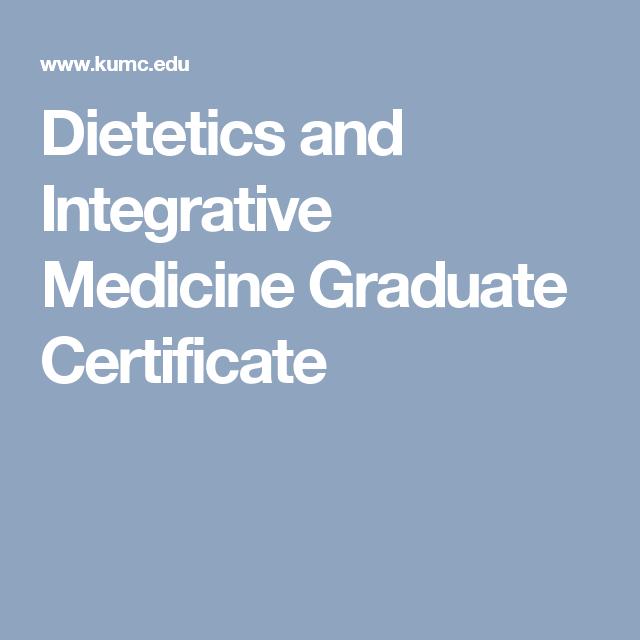 Dietetics And Integrative Medicine Graduate Certificate