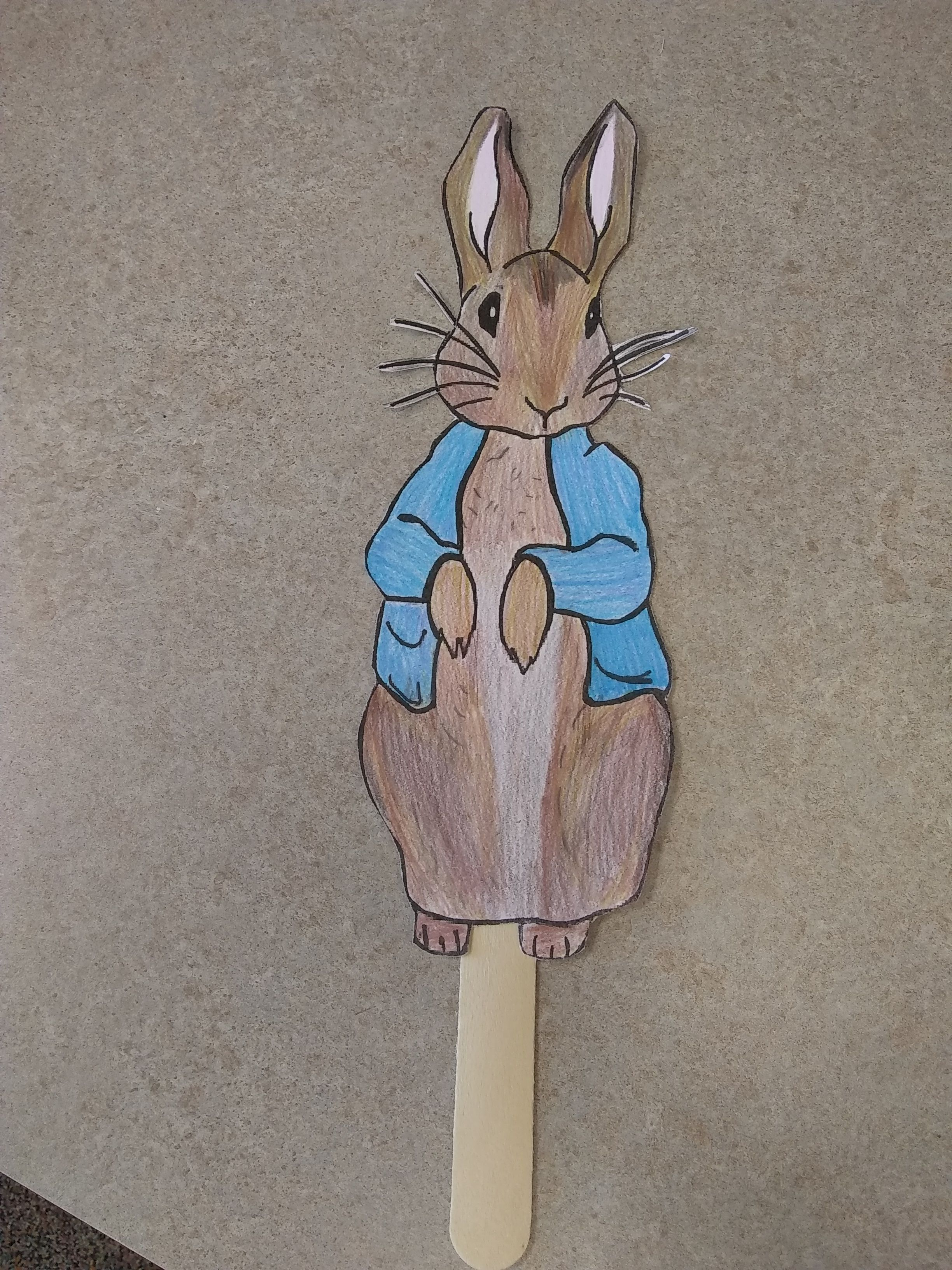 Peter Rabbit By Beatrix Potter Stick Puppet