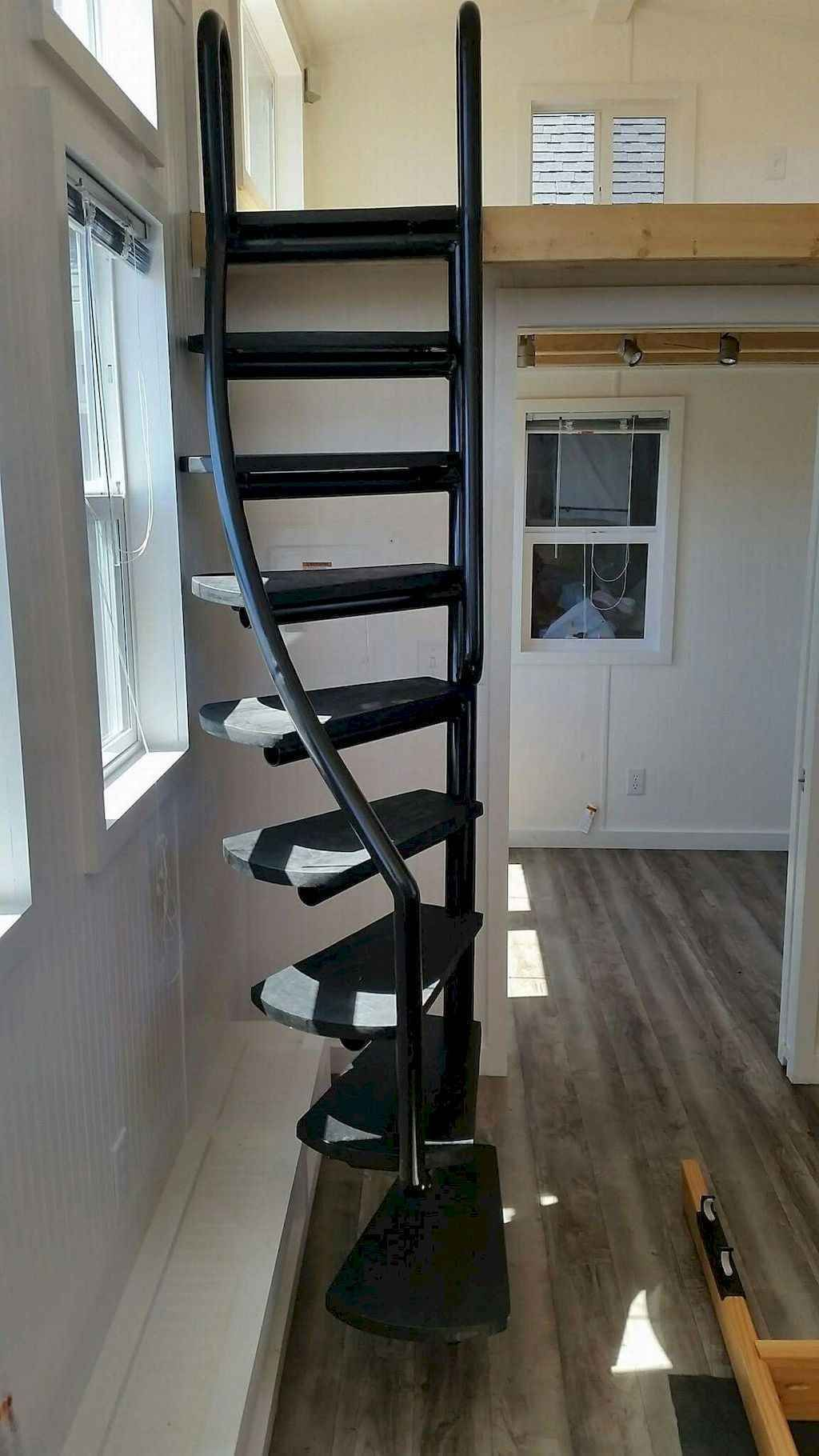 01 Amazing Loft Stair For Tiny House Ideas In 2020 Tiny House Stairs Loft Stairs Attic Ladder