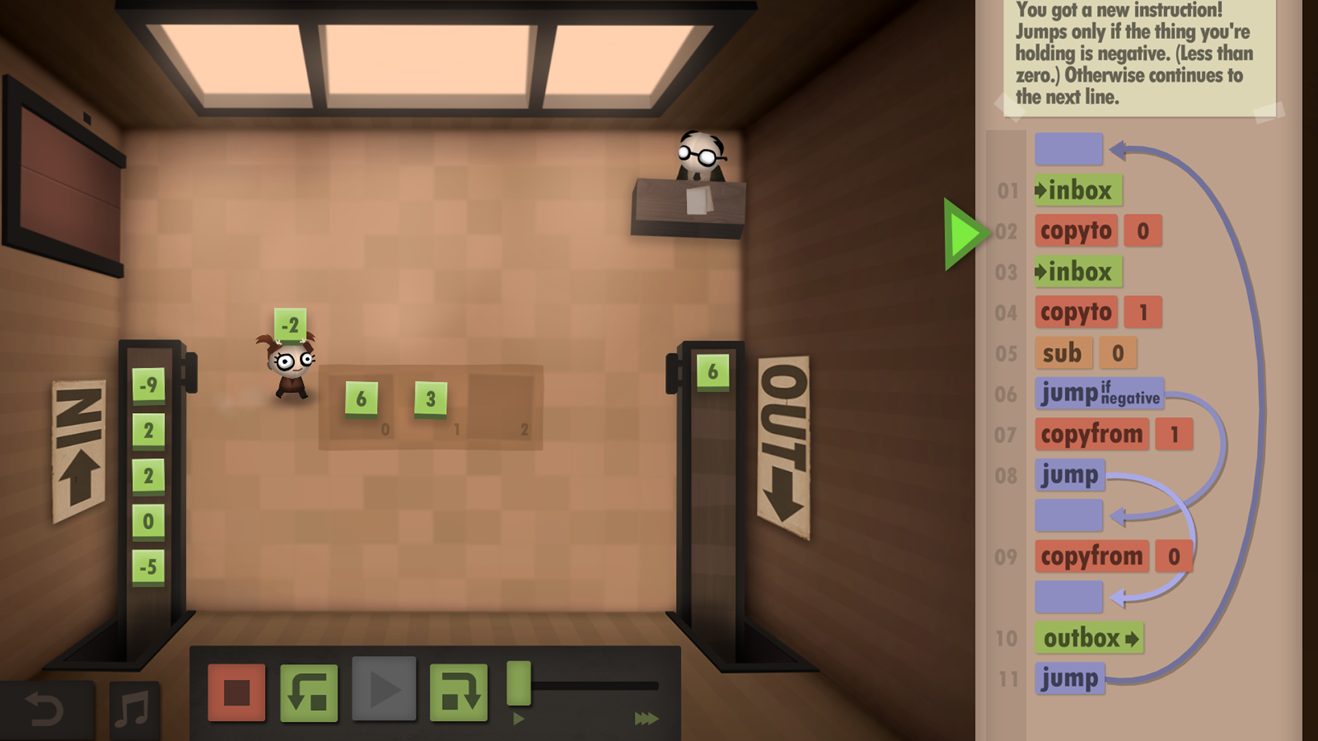 Human Resource Machine Puzzle solving, Game programming