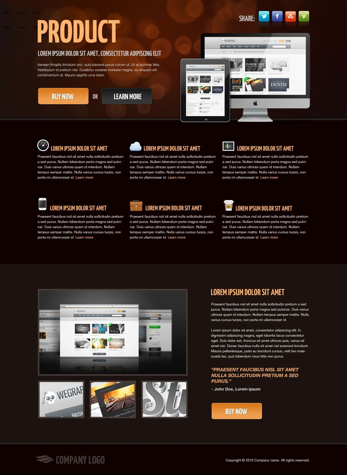 Product Landing Page Free Htmlcss Template Html