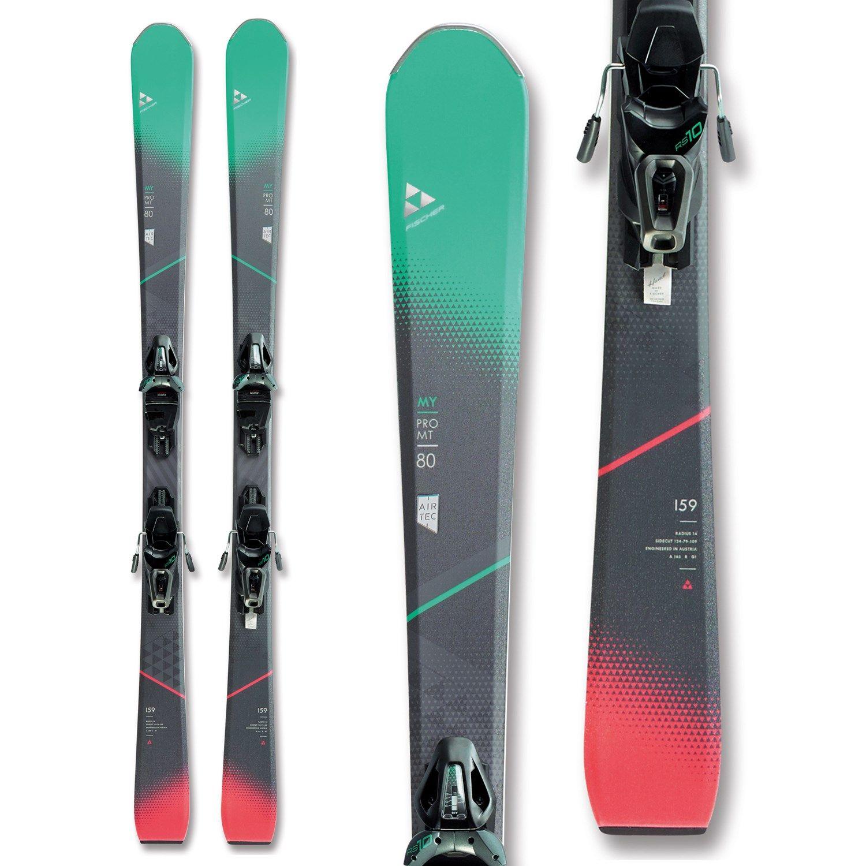Women S Fischer My Pro Mt 80 Skis Rs 10 Gw Powerrail Bindings 2019 152 Skiing Ski Gear