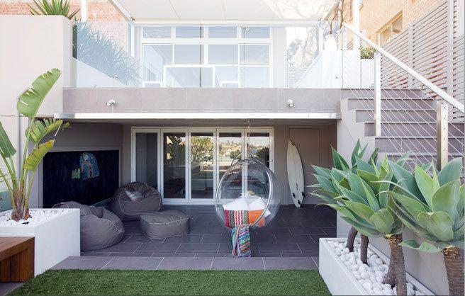 Una Terraza Moderna En Australia Patios Traseros Diseño