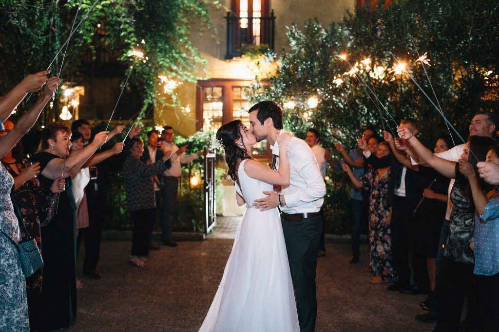 Sparkler Exit Bohemian Wedding At Avant Garden Houston Wedding