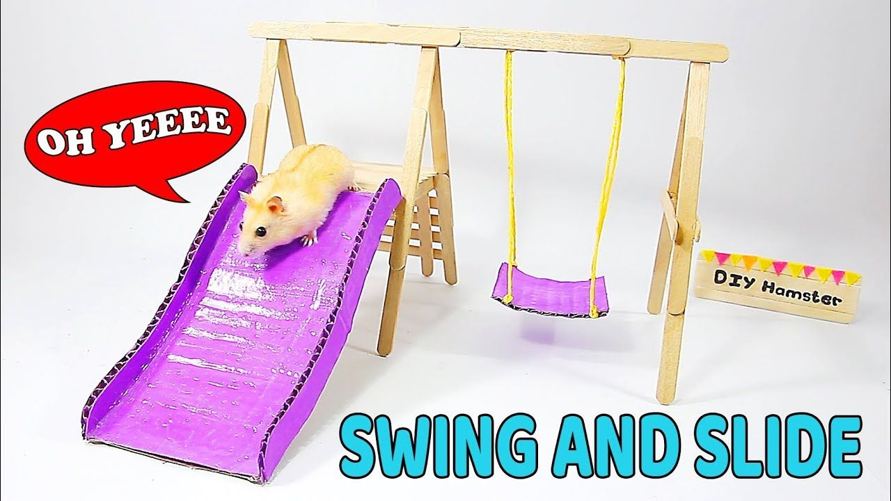 Making Swing Slide And Beautiful Playground For Hamster Diy