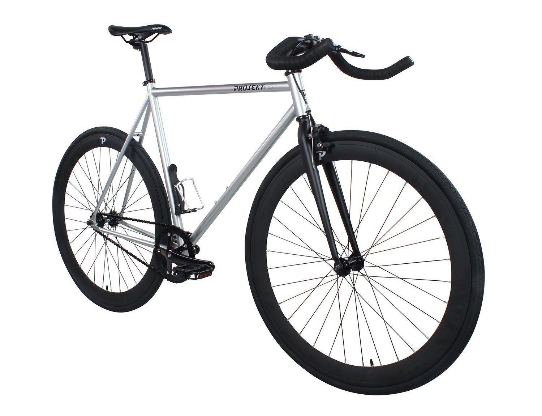 Amazon Com Projekt Fixie Stealth Fixed Gear City Bike With