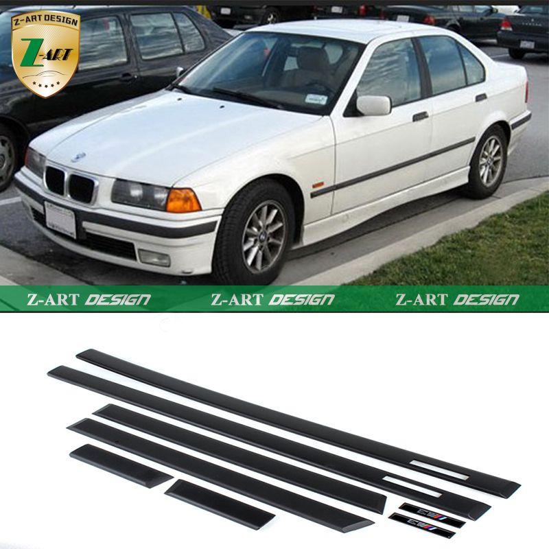 Z Art 1992 1998 E36 M3 Bokovaya Dver Molding Planki Avto Zashitnyh Polos Dlya Bmw E36 Sedan 4 Dveri Vysokoe Kachestvo Car Protection E36 Sedan Bmw E36