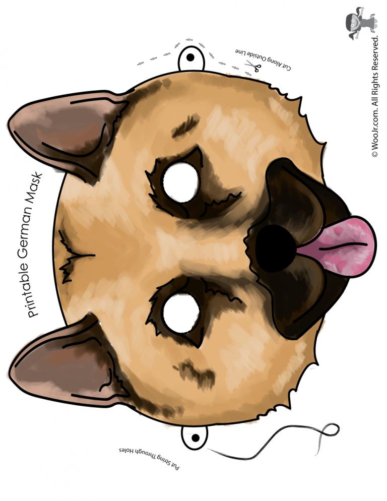 picture regarding Printable Dog Masks known as Printable Doggy Masks inside of 6 Alternative Breeds! preschool craft