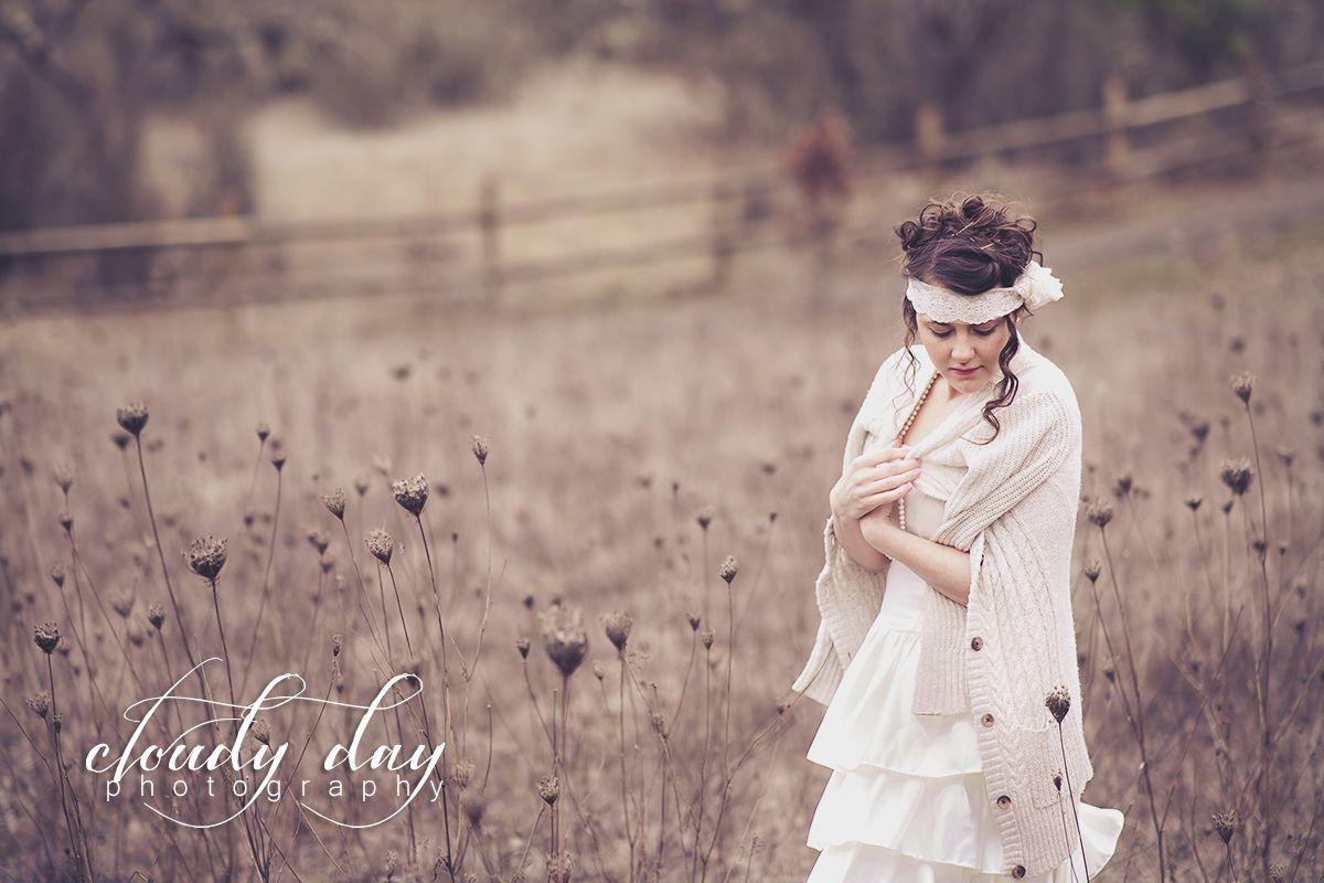 Cloudy Day Photography Medford Oregon Photographer Vintage Wedding Photography Vintage Style Wedding Bridal Photography