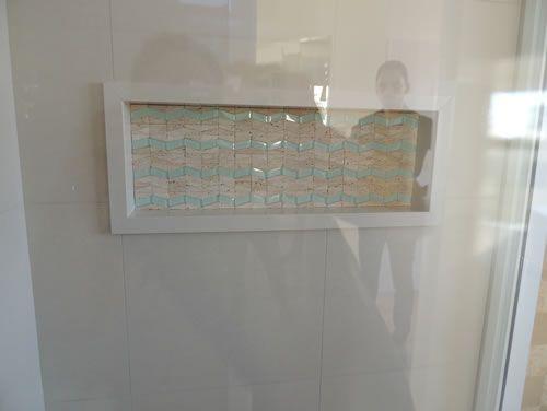 nicho em porcelanato no box do banheiro  Pesquisa Google  Ideias para a cas -> Nicho Banheiro Em Porcelanato