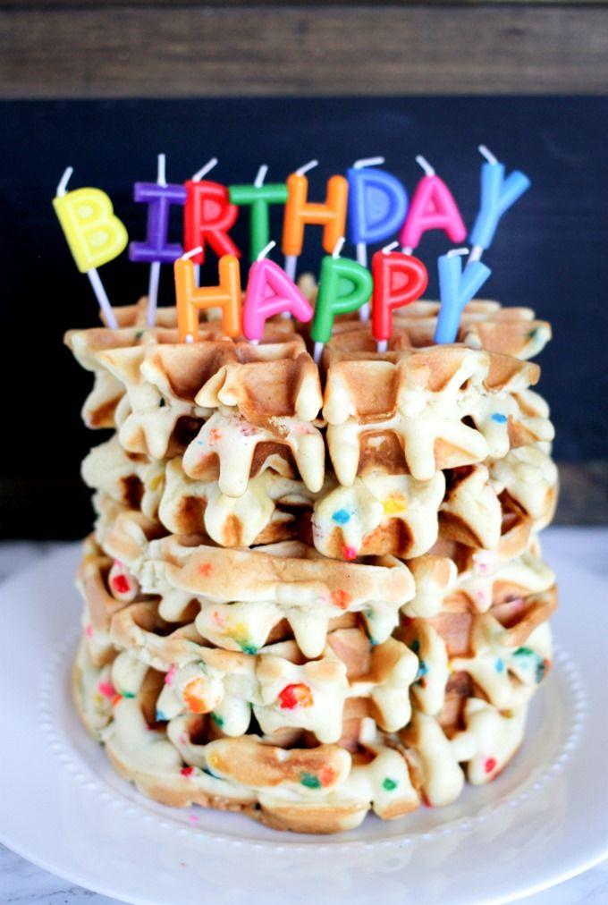 Funfetti Birthday Waffles Are The Best Birthday Breakfast A Kid