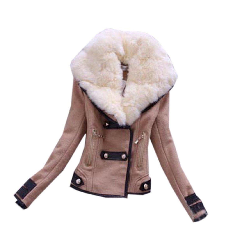 Zeagoo-Hiver-Manteau fourrure-Hiver-Court-Veste-Blouson-Femme  Amazon.fr   Vêtements et accessoires 31869be05f8