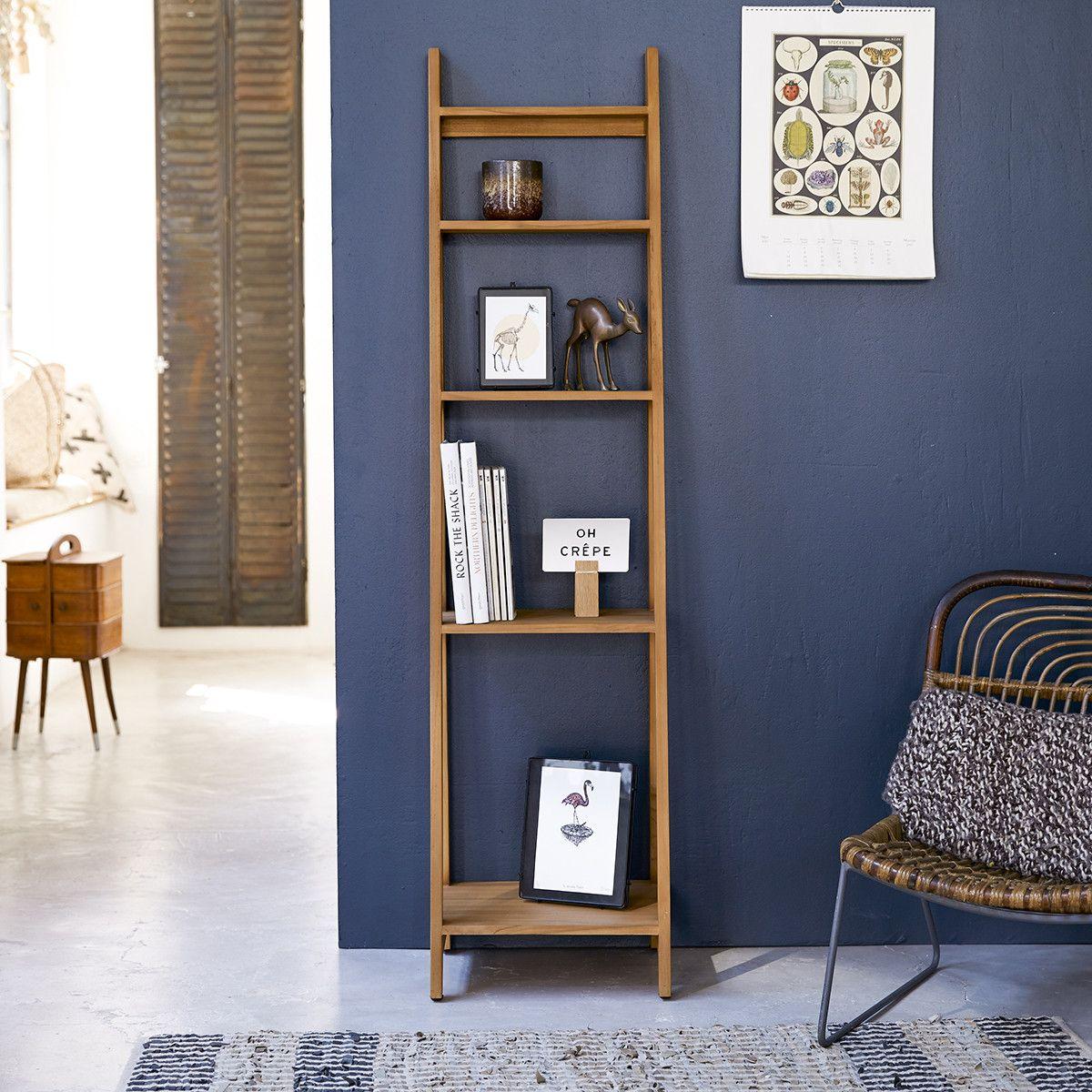 Bahya Step Teak Wood Bookcase 40 X 160 In 2020 Teak Coffee Table