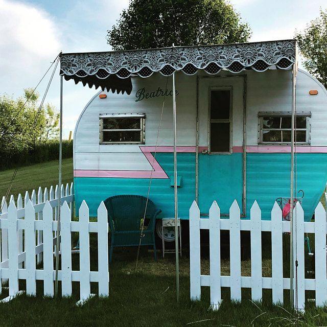 Vintage campers awning & vintage camper markise & auvent campeurs vintage & toldo vintage campistas