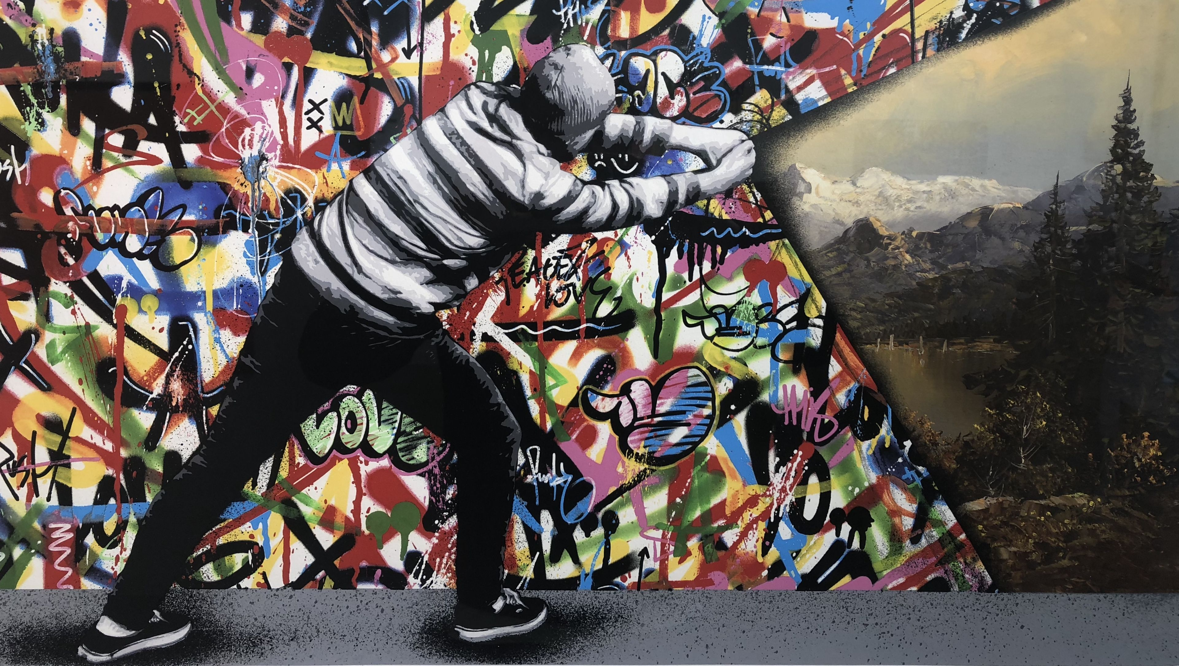 Martin Whatson Behind The Curtain Print On Paper Hpm 50 100 Cm