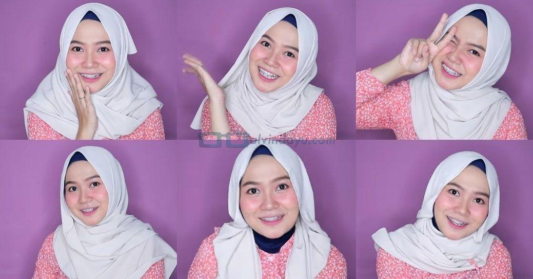 Tutorial Hijab Pashmina Muka Oval