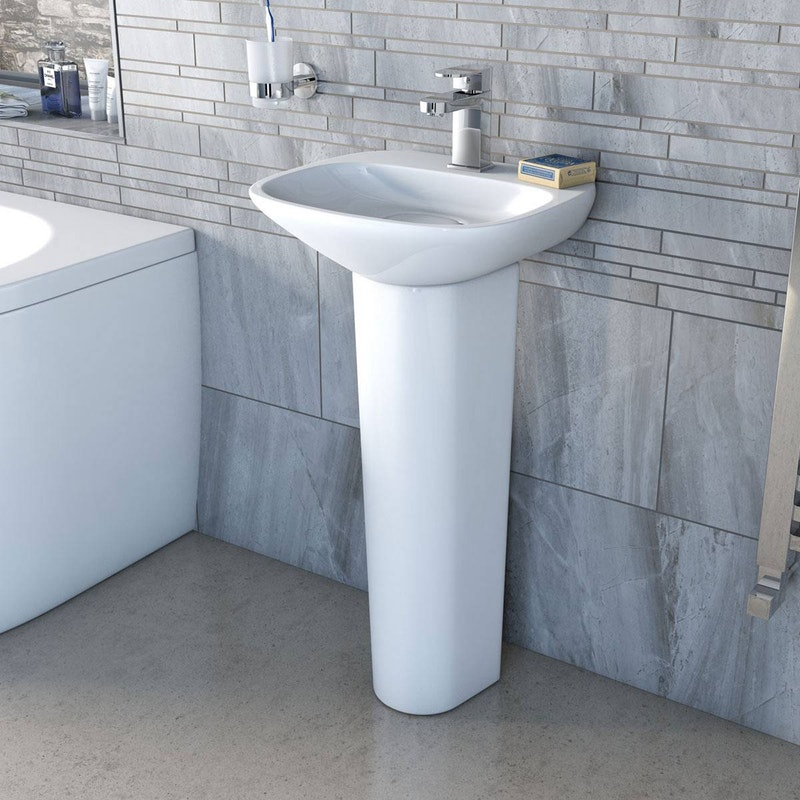 Mode Heath 1 Tap Hole Full Pedestal Basin 400mm Pedestal Basin Pedestal Bathroom Collections