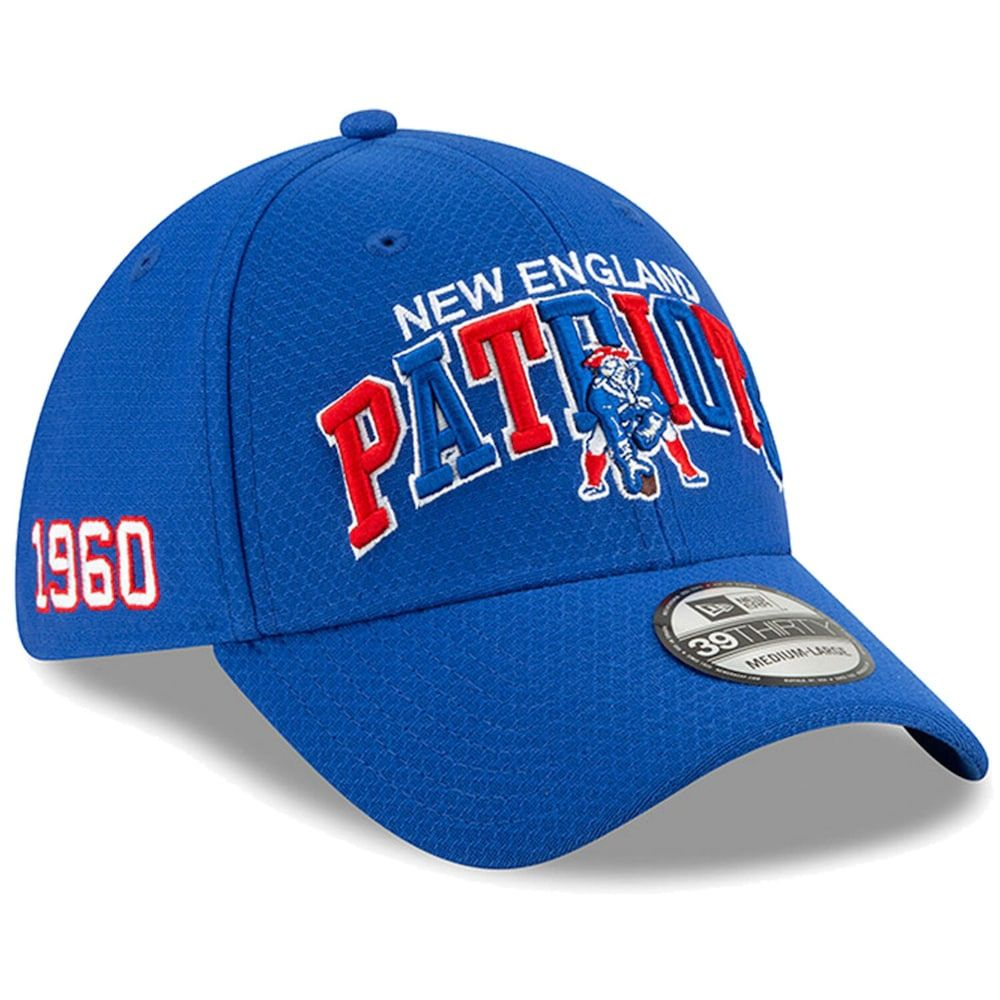 Men S New Era Navy New England Patriots 2019 Nfl Sideline Home Alternate Historic Logo 39thirty 1990s Flex Hat New England Patriots Patriots Hats For Men