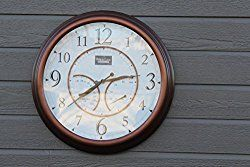 Oxford Outdoor Waterproof Clock With