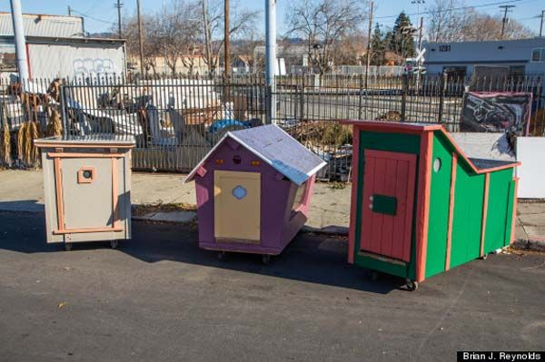 Artist Turns Garbage Into Micro Houses For Homeless In His Area Homeless Housing Homeless Shelter Ideas Homeless Shelter