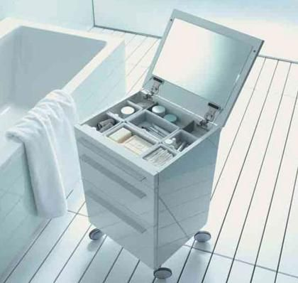 Rolling Bathroom Storage By Duravit