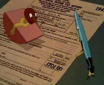 Walt Disney - The New Spirit - WWII Propaganda Income Taxes, Donald Duck
