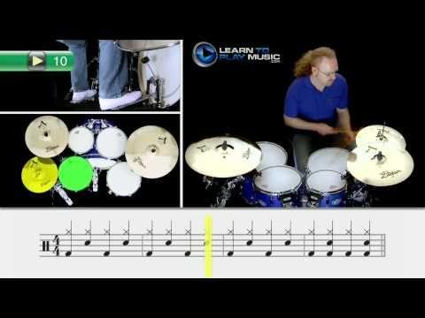 LTPM Beginner Drums Lesson 2: Ex 10 - Full Drum Beat 3 - http://best-videos.in/2012/11/29/ltpm-beginner-drums-lesson-2-ex-10-full-drum-beat-3/