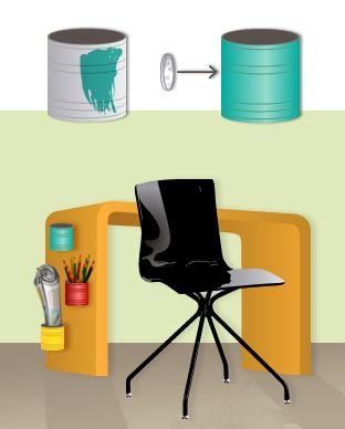 ¿Tienes un montón de lápices, rotuladores, bolígrafos o tijeras desordenados por tu mesa ¿Un portalápices no es bastante para guardar todos tus materiales?  Pues bien, podemos resolver el problema gracias a esta idea, con la que tendrás tu mesa ordenada y limpia.