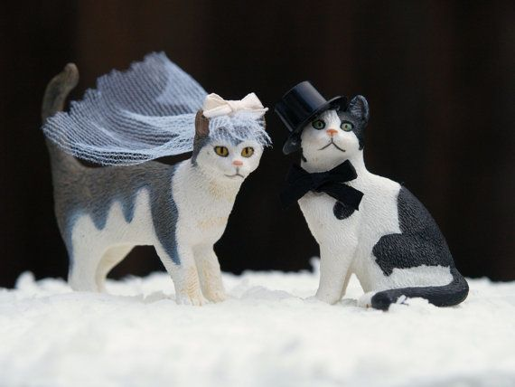 wedding cake toppers with dogs and cats cat wedding cake topper amp groom animal lover 26631