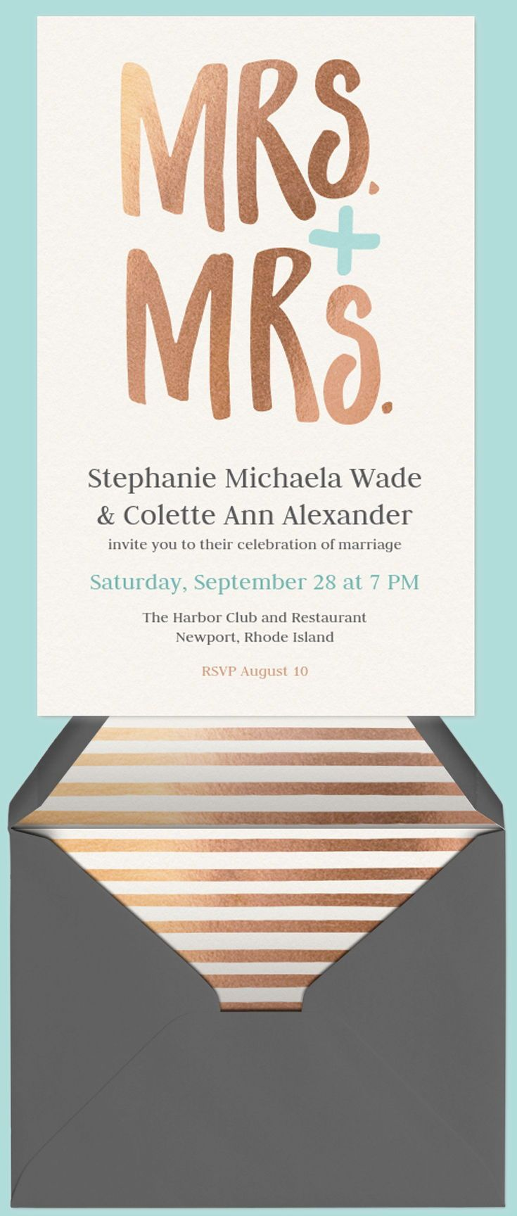 Celebrate the new Mrs. and Mrs.! Start planning your party by ...