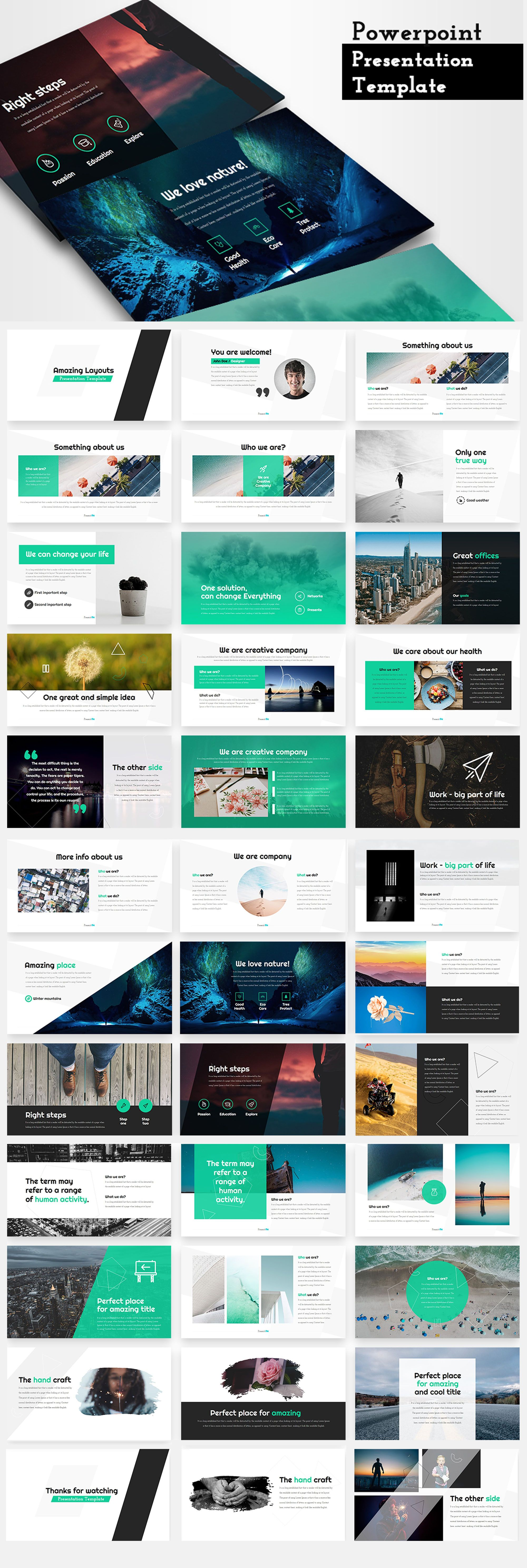amazing layouts powerpoint template creative presentation ideas