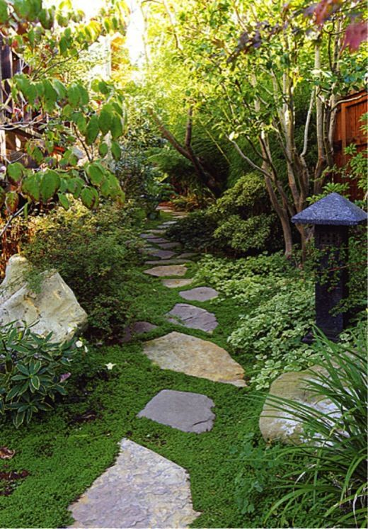 Small garden small backyard small space asian garden for Garden pond stones
