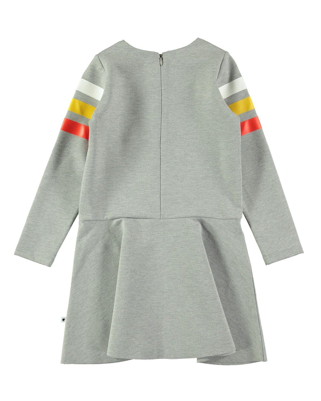 38c637977 Molo Chantelle Melange Dress w/ Striped Long Sleeves, Size 3T-14