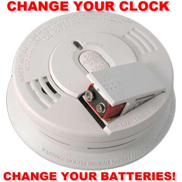 Change Your Clocks Change Your Batteries Smokedetectors
