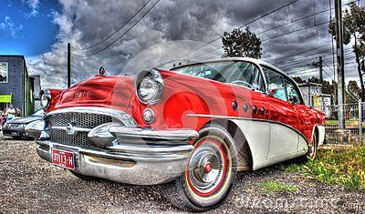 Vintage 1950s American Red And White Buick On Display At Car Show In Melbourne Australia Buick Australian Cars American Vintage
