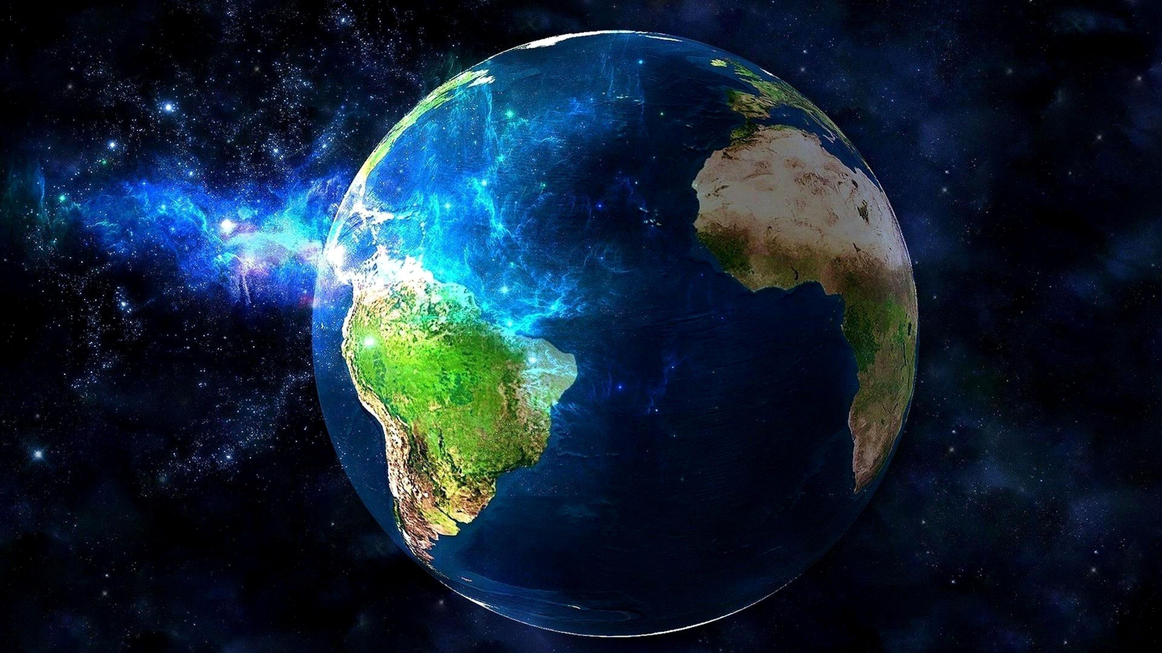 4k Wallpaper Earth Space Trick In 2020 Wallpaper Earth Earth From Space Earth Hd