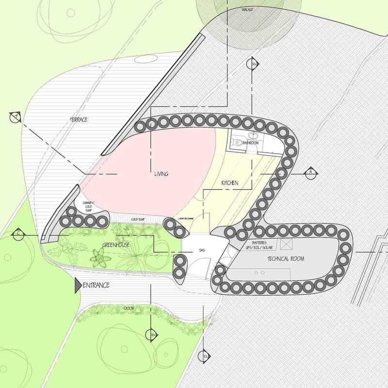Lifehaus La Casa Autosuficiente Cero Emisiones De Bajo Coste A Base De Materiales Naturales Y Reciclados Casa Autosuficiente Materiales Naturales Arquitectura Sostenible