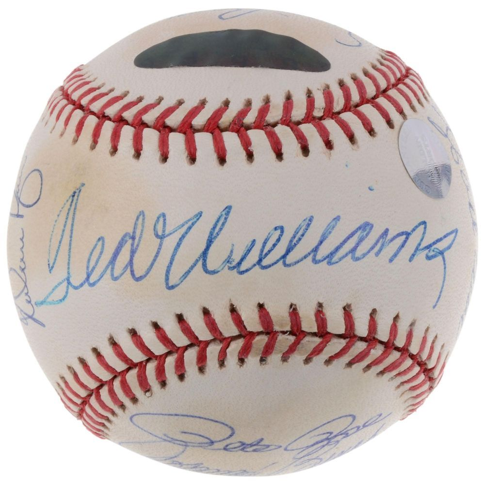 Mlb All Century Team Autographed Vintage Baseball With 15 Signatures Psa Dna Baseball Vintage Baseball Autograph Baseball